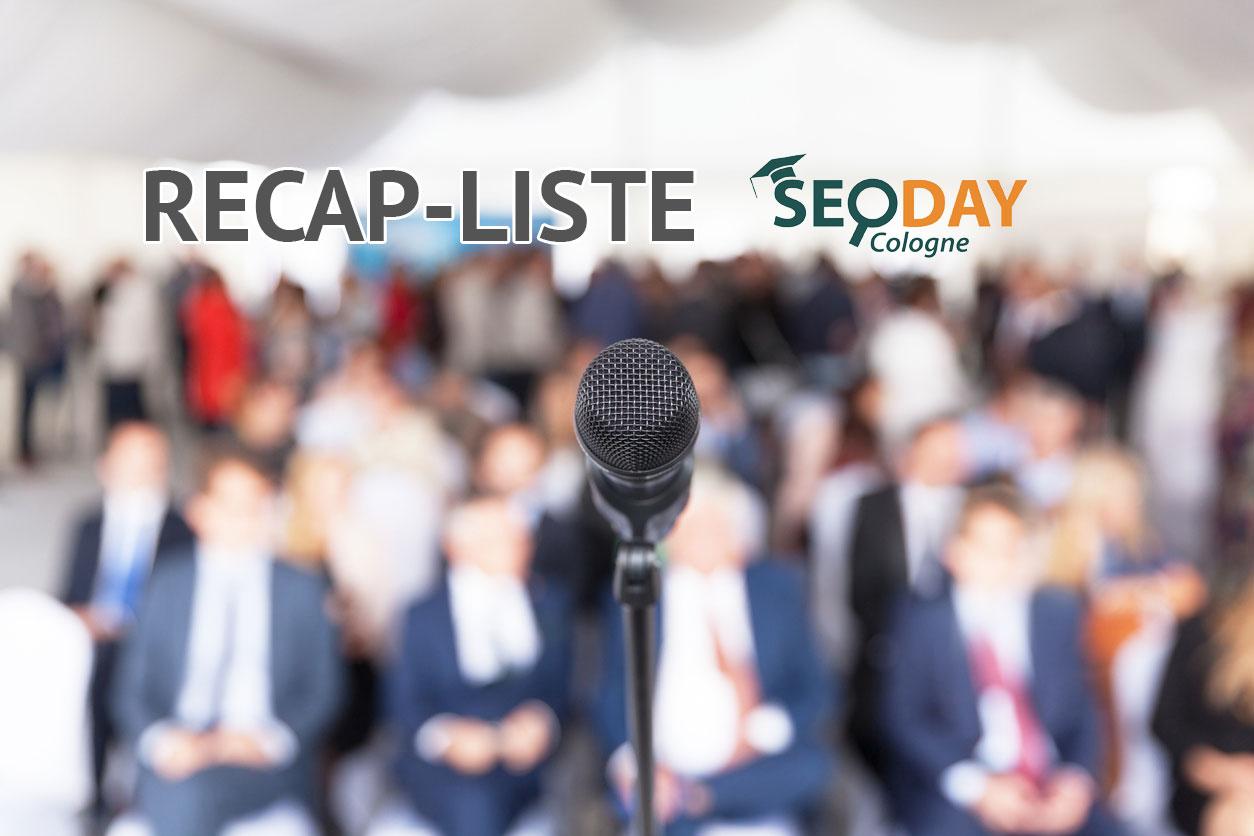 SEOday 2018 Recap mit großer Liste