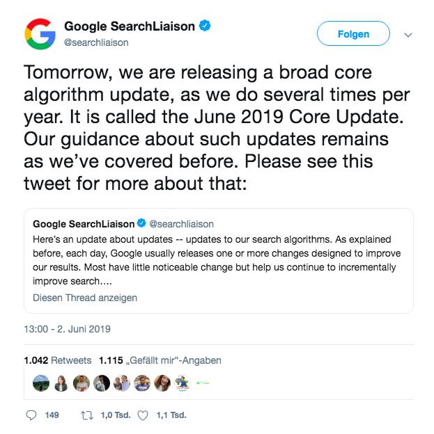 Google Core Update Juni 2019: das kannst Du tun